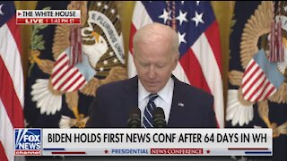 WATCH: Biden's Mind Completely Stops in Embarrassing Moment During Press Briefing