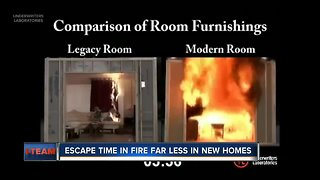 Newly built homes burn much faster than older homes