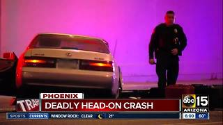 Deadly crash in Phoenix early Friday morning - Video
