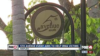 Hundreds eat, shop, and drink in Naples to help Hurricane Irma victims - Video