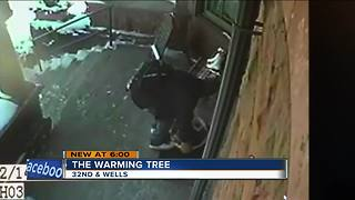 Thief steals items give-aways to help residents - Video