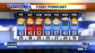 Denver will be cool and windy on Friday - Video