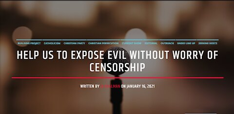 Help Us To Expose Evil Without Worry Of Censorship