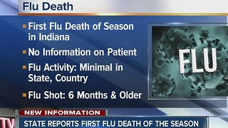 First Indiana flu death of 2016 - 2017 season reported - Video