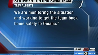 UNO swimming and diving team safe from Fort Lauderdale Airport shooting - Video