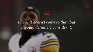 Le'Veon Bell Considers Retirement If He's Franchise Tagged Again - Video