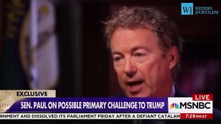 Rand Paul Would Support Trump in 2020 - Video