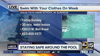 Swim with your clothes on week - Video