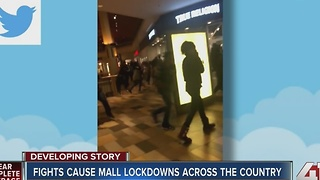Malls across the country evacuated due to fights - Video
