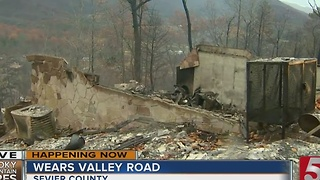 Structures In Wears Valley Destroyed In Wildfire - Video