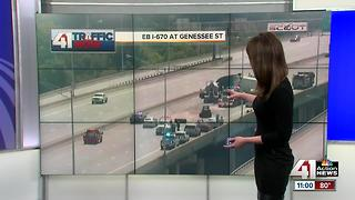 EB I-670 crash shuts down highway at Genessee Street - Video