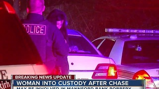 Woman Taken Into Custody Following Police Chase - Video