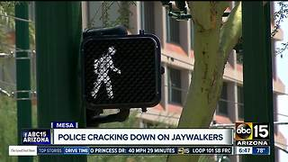 Mesa police cracking down on jaywalkers - Video