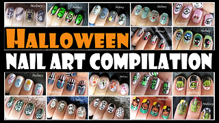 Halloween nail art compilation: Meliney designs - Video