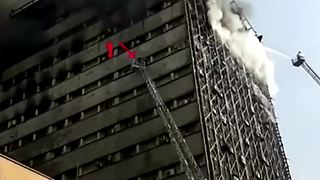 New vidoes emerge form the Tehran's builiding fire - Video