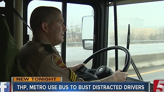 THP, Metro Officers Ride Bus To Catch Distracted Drivers - Video