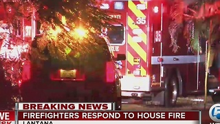 Crews respond to early-morning fire in Lantana - Video