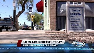 Sales tax increases today