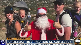 Phoenix officials OK Christmas tree on Camelback Mountain - Video