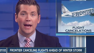 Frontier Airlines cancels 23 flights in, out of Denver International Airport ahead of winter storm - Video