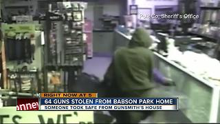Over a dozen rifles stolen from gunsmith's home in Polk County - Video