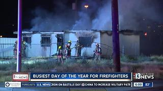 Fourth of July busy for fire departments - Video