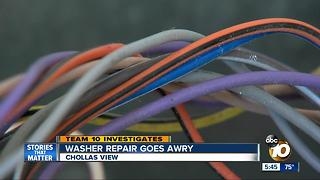 San Diego washer repair goes awry - Video
