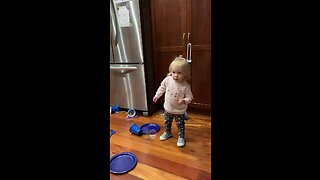 Happy toddler can't stop dancing to Miley Cyrus