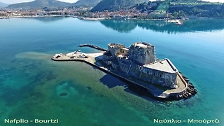 Drone footage of Nafplio, one of the most picturesque towns in Greece