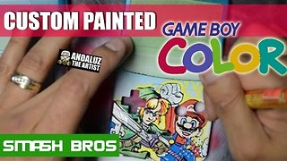Custom Painted Game Boy Color Has Cool Nintendo Character Art - Video