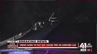 Crews work to put out house fire on Harvard Ave. - Video