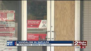 Sapulpa businesses damaged by vandalism - Video
