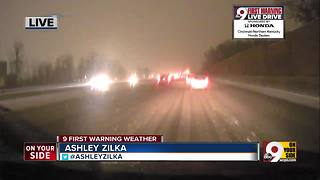 The roads are slick - Video
