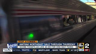 Three-day sale for Amtrak Northeast