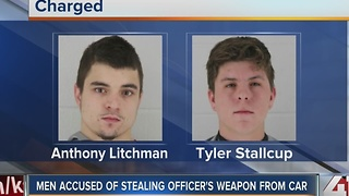 Two men accused of stealing gun from Lenexa police officer's car