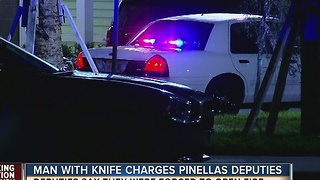 Knife wielding man shot and killed by Pinellas deputies - Video