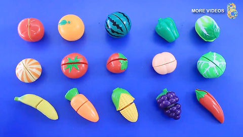 Babytv - Fruit - Learning Fruit Vegetable Names for kids with Plastic Toys