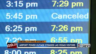 Atlanta airport power outage strands Las Vegas visitors - Video