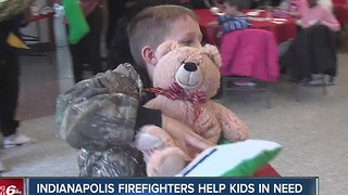 Indianapolis firefighters help kids in need