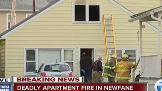 One dead in Newfane apartment fire - Video