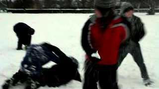 Man's Priceless Reaction After Being Struck by Lightning During Snowball Fight