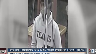 Las Vegas police seek Friday bank robbery suspect - Video