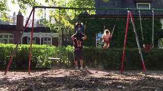 Funny Dad Combines Parenting With Exercise - Video