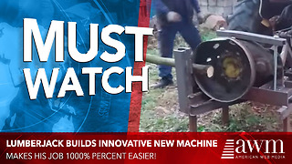 Lumberjack Builds Innovative Machine To Make His Job 1000 Times Easier - Video