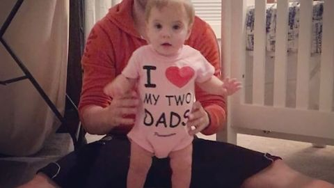 Dads Witness Little Girl's First Steps