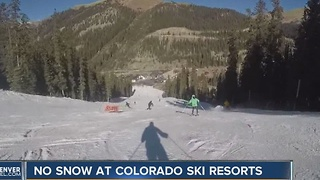 Slow start to ski season has some mountain residents nervous - Video