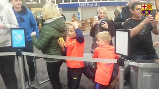 VIDEO: Lionel Messi makes a young fan's day. His reaction was Unbelievable! - Video