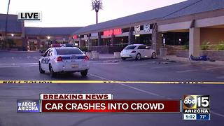 Car runs into crowd of people near 43rd Avenue/Thunderbird, three people hurt - Video