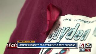 Officers honored for response to boy's shooting - Video