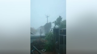 Port Augusta Struck by Strong Winds and Wild Rain - Video